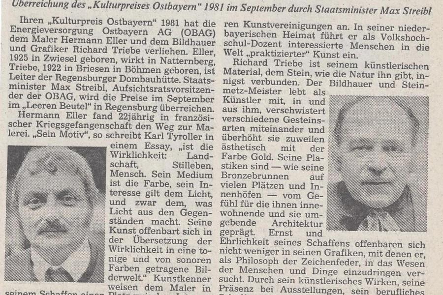 Richard Triebe Hermann Eller Kulturpreis