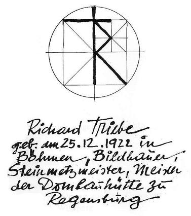 Richard Triebe handgeschriebenes
